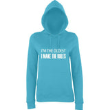 I'm The Oldest I Make The Rules Women Hoodies White-AWD-Daataadirect.co.uk