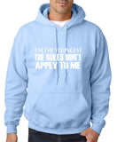 "I'm The Youngest The Rules Don,t Apply To Me Men Hoodies White-Hoodies-Gildan-Light Blue-S To Fit Chest 36-38"" (91-96cm)-Daataadirect"