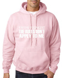 "I'm The Youngest The Rules Don,t Apply To Me Men Hoodies White-Hoodies-Gildan-Light pink-S To Fit Chest 36-38"" (91-96cm)-Daataadirect"