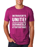 "Introverts unite separately Mens T Shirts White-T Shirts-Gildan-Antique Helconia-S To Fit Chest 36-38"" (91-96cm)-Daataadirect"