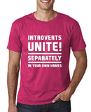 "Introverts unite separately Mens T Shirts White-T Shirts-Gildan-Heliconia-S To Fit Chest 36-38"" (91-96cm)-Daataadirect"