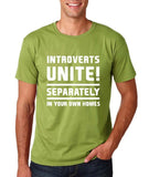 "Introverts unite separately Mens T Shirts White-T Shirts-Gildan-Kiwi-S To Fit Chest 36-38"" (91-96cm)-Daataadirect"