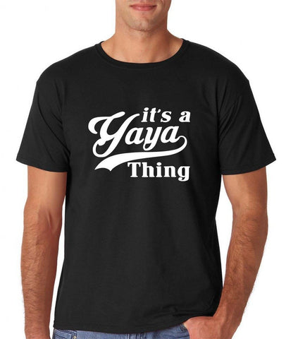 "It's a yaya thing Mens T Shirts White-T Shirts-Gildan-Black-S To Fit Chest 36-38"" (91-96cm)-Daataadirect"