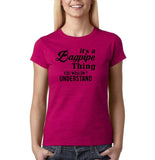 "It's bagpipe thing you wouldn't understand Black Womens T Shirt-T Shirts-Gildan-Antique Heliconia-S UK 10 Euro 34 Bust 32""-Daataadirect"
