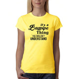 "It's bagpipe thing you wouldn't understand Black Womens T Shirt-T Shirts-Gildan-Daisy-S UK 10 Euro 34 Bust 32""-Daataadirect"