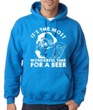 Its the most wonderful time for beer Mens Hoodies White-Gildan-Daataadirect.co.uk