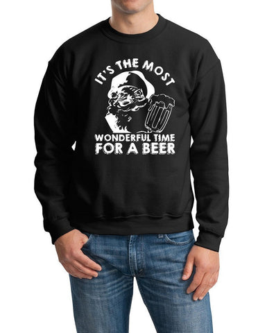It's the most wonderful time for beer Mens SweatShirt White-Gildan-Daataadirect.co.uk