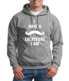 I've mustache therefore I'm Mens Hoodies White-Gildan-Daataadirect.co.uk