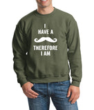 I've mustache therefore I'm Mens SweatShirt White-Gildan-Daataadirect.co.uk