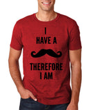 "I've mustache therefore I'm Mens T Shirt Black-T Shirts-Gildan-Antique Cherry-S To Fit Chest 36-38"" (91-96cm)-Daataadirect"