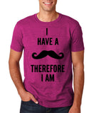 "I've mustache therefore I'm Mens T Shirt Black-T Shirts-Gildan-Antique Heliconia-S To Fit Chest 36-38"" (91-96cm)-Daataadirect"