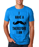 "I've mustache therefore I'm Mens T Shirt Black-T Shirts-Gildan-Antique Sapphire-S To Fit Chest 36-38"" (91-96cm)-Daataadirect"