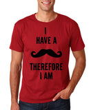 "I've mustache therefore I'm Mens T Shirt Black-T Shirts-Gildan-Cardinal-S To Fit Chest 36-38"" (91-96cm)-Daataadirect"