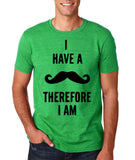 "I've mustache therefore I'm Mens T Shirt Black-T Shirts-Gildan-Heather Irish Green-S To Fit Chest 36-38"" (91-96cm)-Daataadirect"