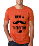 "I've mustache therefore I'm Mens T Shirt Black-T Shirts-Gildan-Heather Orange-S To Fit Chest 36-38"" (91-96cm)-Daataadirect"