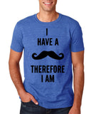 "I've mustache therefore I'm Mens T Shirt Black-T Shirts-Gildan-Heather Royal-S To Fit Chest 36-38"" (91-96cm)-Daataadirect"