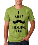 "I've mustache therefore I'm Mens T Shirt Black-T Shirts-Gildan-Kiwi-S To Fit Chest 36-38"" (91-96cm)-Daataadirect"