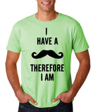 "I've mustache therefore I'm Mens T Shirt Black-T Shirts-Gildan-Mint Green-S To Fit Chest 36-38"" (91-96cm)-Daataadirect"