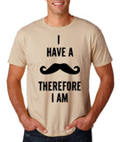 "I've mustache therefore I'm Mens T Shirt Black-T Shirts-Gildan-Sand-S To Fit Chest 36-38"" (91-96cm)-Daataadirect"