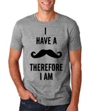 "I've mustache therefore I'm Mens T Shirt Black-T Shirts-Gildan-Sport Grey-S To Fit Chest 36-38"" (91-96cm)-Daataadirect"