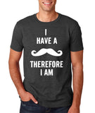 I've mustache therefore I'm Mens T Shirt White-Gildan-Daataadirect.co.uk