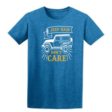 Jeep Hair Dont Care Mens T Shirts-t-shirts-Gildan-Antique Sapphire-S-Daataadirect