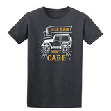 Jeep Hair Dont Care Mens T Shirts-t-shirts-Gildan-Dark Heather-S-Daataadirect