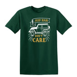 Jeep Hair Dont Care Mens T Shirts-t-shirts-Gildan-Forest Green-S-Daataadirect