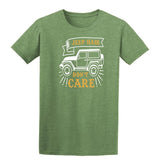 Jeep Hair Dont Care Mens T Shirts-t-shirts-Gildan-Heather Military Green-S-Daataadirect