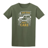 Jeep Hair Dont Care Mens T Shirts-t-shirts-Gildan-Military Green-S-Daataadirect