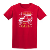 Jeep Hair Dont Care Mens T Shirts-t-shirts-Gildan-Red-S-Daataadirect