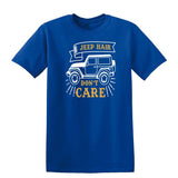 Jeep Hair Dont Care Mens T Shirts-t-shirts-Gildan-Royal Blue-S-Daataadirect