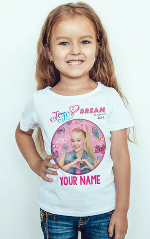 JOJO SIWA Personalized Girl T-shirt-Gildan-Daataadirect.co.uk