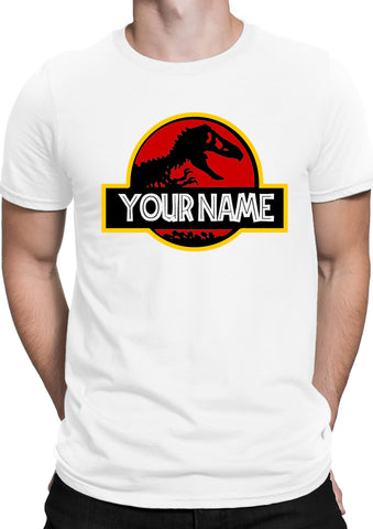 Jurassic Your Name Mens T Shirts-Gildan-Daataadirect.co.uk
