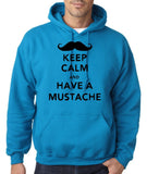 Keep Calm Have Mustache Mens Hoodies Black-Gildan-Daataadirect.co.uk