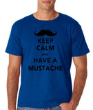 Keep calm have mustache Mens T Shirt Black-Gildan-Daataadirect.co.uk