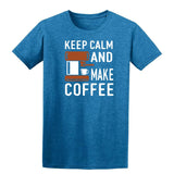 Keep Clam And Make Coffee Mens T Shirts-Gildan-Daataadirect.co.uk