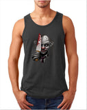 "Killer Joker Men Tank Top-Tank Tops-Gildan-Charcoal-S To Fit Chest 36-38"" (91-96cm)-Daataadirect"