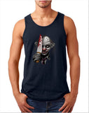 "Killer Joker Men Tank Top-Tank Tops-Gildan-Navy-S To Fit Chest 36-38"" (91-96cm)-Daataadirect"