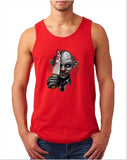 "Killer Joker Men Tank Top-Tank Tops-Gildan-Red-S To Fit Chest 36-38"" (91-96cm)-Daataadirect"