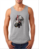 "Killer Joker Men Tank Top-Tank Tops-Gildan-Sport Grey-S To Fit Chest 36-38"" (91-96cm)-Daataadirect"