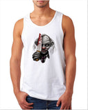 "Killer Joker Men Tank Top-Tank Tops-Gildan-White-S To Fit Chest 36-38"" (91-96cm)-Daataadirect"