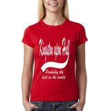 KINGSTON UPON HILL Probably The Best Womens T Shirts White-Gildan-Daataadirect.co.uk
