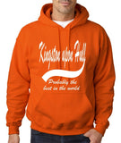 "KINGSTON UPON HULL Probably The Best Mens Hoodies White-Hoodies-Gildan-Orange-S To Fit Chest 36-38"" (91-96cm)-Daataadirect"