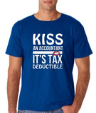 Kiss an accountant Mens T Shirts White-Gildan-Daataadirect.co.uk