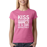 Kiss an accountant Womens T Shirts White-Gildan-Daataadirect.co.uk