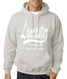 "LANCASTER Probably The Best City In The World Mens Hoodies White-Hoodies-Gildan-Ash-S To Fit Chest 36-38"" (91-96cm)-Daataadirect"