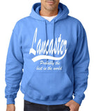 "LANCASTER Probably The Best City In The World Mens Hoodies White-Hoodies-Gildan-Carolina Blue-S To Fit Chest 36-38"" (91-96cm)-Daataadirect"