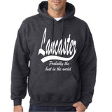"LANCASTER Probably The Best City In The World Mens Hoodies White-Hoodies-Gildan-Dark Heather-S To Fit Chest 36-38"" (91-96cm)-Daataadirect"
