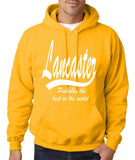 "LANCASTER Probably The Best City In The World Mens Hoodies White-Hoodies-Gildan-Gold-S To Fit Chest 36-38"" (91-96cm)-Daataadirect"